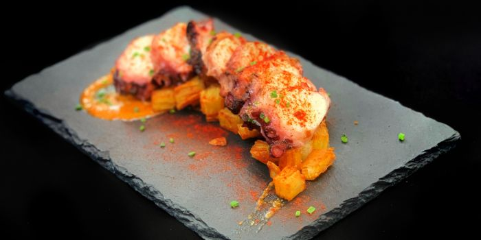 Galician Octopus from The Winery Tapas   Bar in City Hall, Singapore