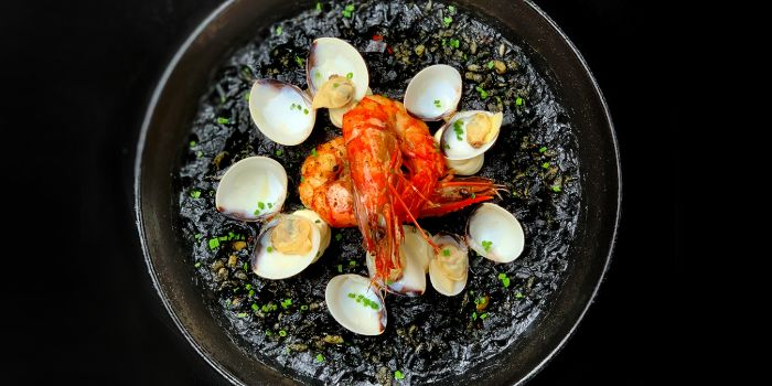 Squid Ink Paella from The Winery Tapas   Bar in City Hall, Singapore