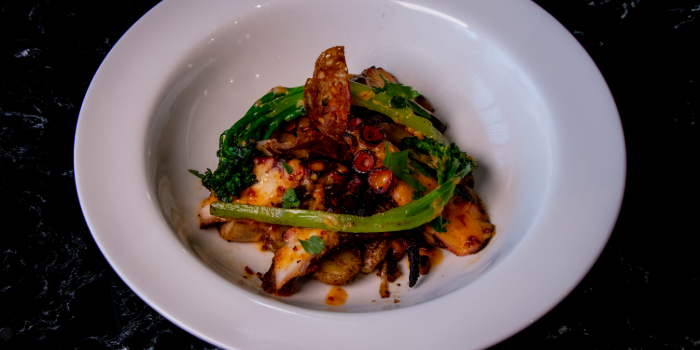 Spanish Octopus Leg from Black Marble in Holland Village, Singapore