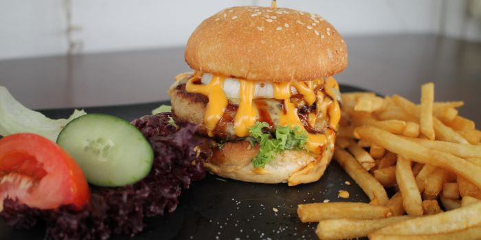 Double Cheese Pork Burger from Saturday House in Paya Lebar, Singapore
