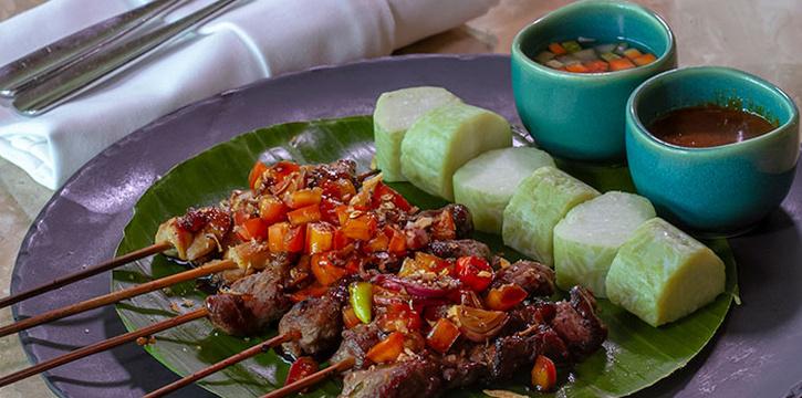 Array of Satays at Arts Café by Raffles (Raffles Jakarta)