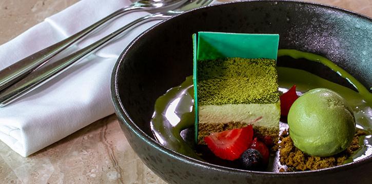 White Chocolate Green Tea Mousse at Arts Café by Raffles (Raffles Jakarta)