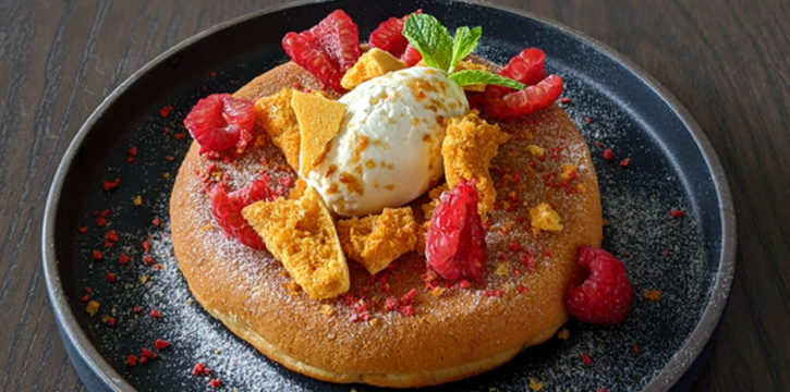 Gluten-Free Pancake from Clan Cafe at Outram, Singapore