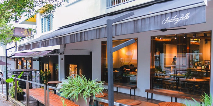 Exterior from Sunday Folks in Holland Village, Singapore