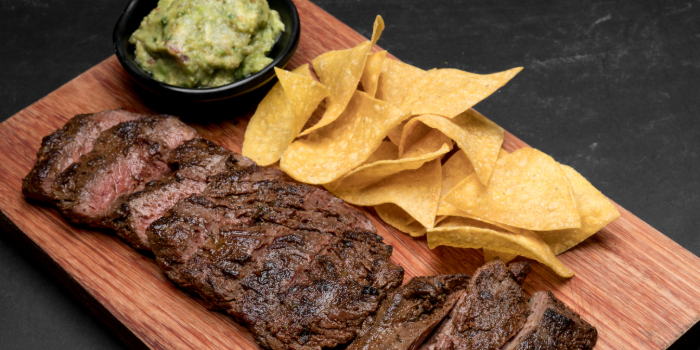 Carne Asada Steak with Guacamole from Chimichanga in Little India, Singapore