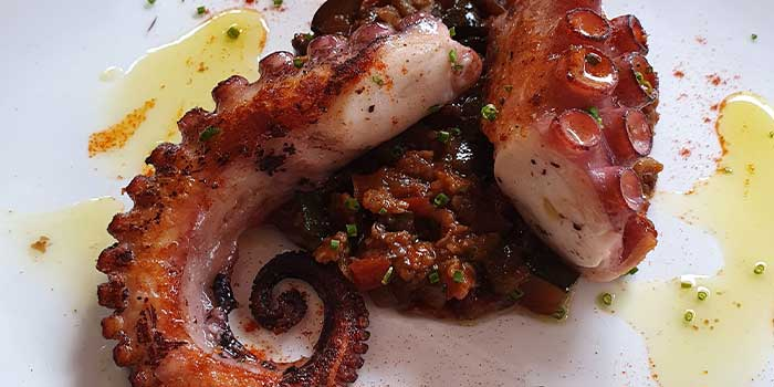 Octopus from GaZette in Telok Ayer, Singapore