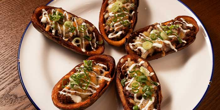 Potato Skins from Broadway American Diner at Arcade @ The Capitol Kempinski in City Hall, Singapore