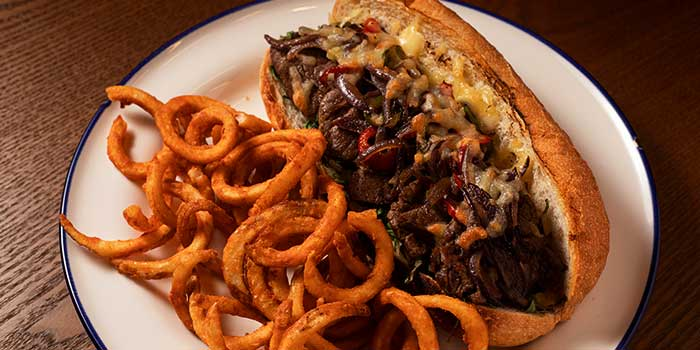 Philly Cheese Steak Sanwich from Broadway American Diner at Arcade @ The Capitol Kempinski in City Hall, Singapore