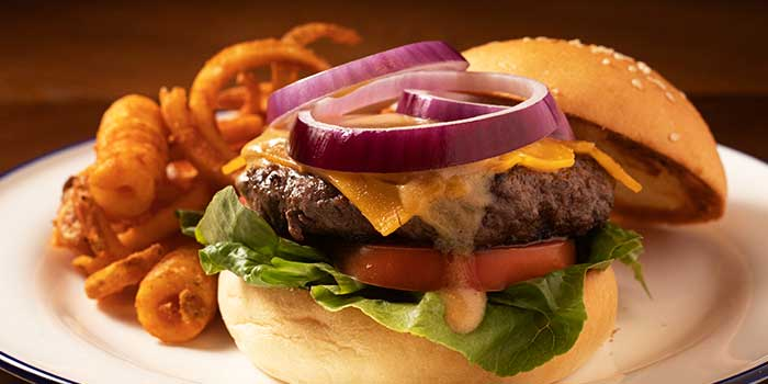 Double Cheese Black Angus Burger from Broadway American Diner at Arcade @ The Capitol Kempinski in City Hall, Singapore