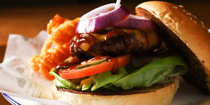 Barbecue Beef Burger from Broadway American Diner at Arcade @ The Capitol Kempinski in City Hall, Singapore