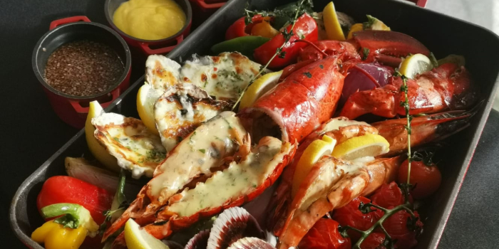 Grilled Seafood Platter from Escape Restaurant & Lounge in One Farrer Hotel in Farrer Park, Singapore