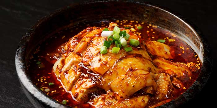 Chong Qing Chilled Chicken with Spicy Bean Paste from Si Chuan Dou Hua (Beach Road) in Bugis, Singapore