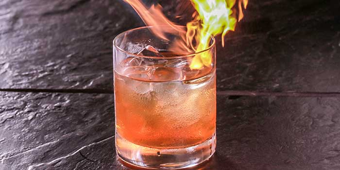 Wagyu Old Fashioned at Carbon by The Dining Room (Raffles Hotel Jakarta)