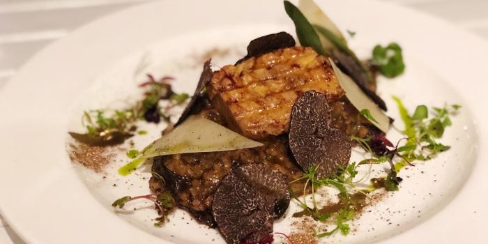 Risotto Porcini and Black Truffle with Foie Gras from Vespetta Italian Restaurant in Boat Quay, Singapore