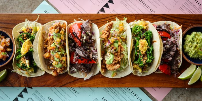 Taco Platter from Super Loco Customs House at Customs House in Raffles Place, Singapore