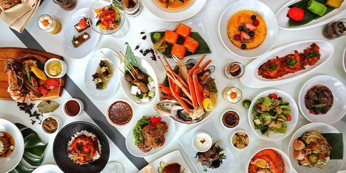 Food Spread from The Line in Shangri-La Hotel in Orchard, Singapore
