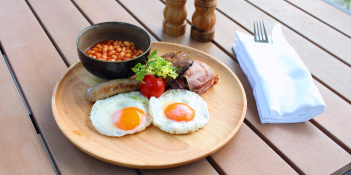 British Breakfast from Shutters at Amara Sanctuary in Sentosa, Singapore