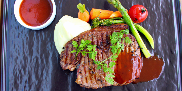 Char Grilled Rib Eye Steak from Shutters at Amara Sanctuary in Sentosa, Singapore