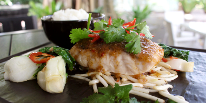 Thai Style Sea Bass from Shutters at Amara Sanctuary in Sentosa, Singapore