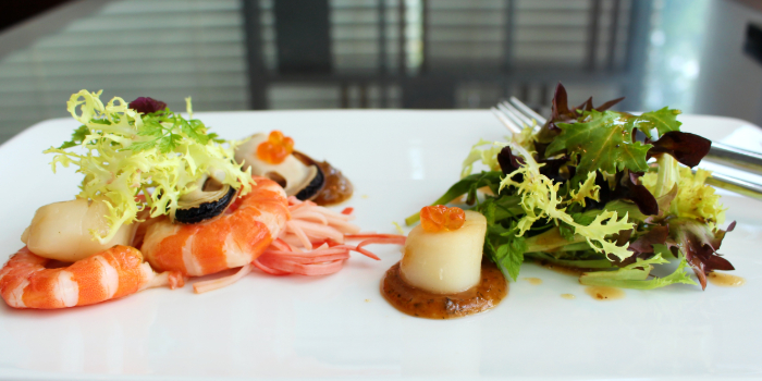 Seafood Salad from Shutters at Amara Sanctuary in Sentosa, Singapore