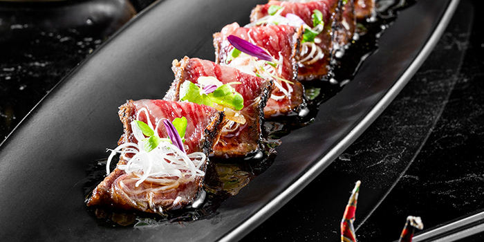 Wagyu Beef Tataki from KOMA Singapore at Marina Bay Sands in Marina Bay, Singapore