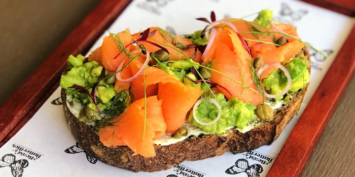 Avocado Salmon Tartine from Beast & Butterflies at M Social Singapore in Robertson Quay, Singapore