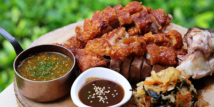 Crispy Pork Knuckle from Beast & Butterflies at M Social Singapore in Robertson Quay, Singapore