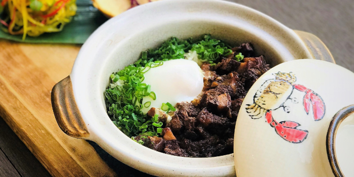 Kurobuta Claypot Rice from Beast & Butterflies at M Social Singapore in Robertson Quay, Singapore