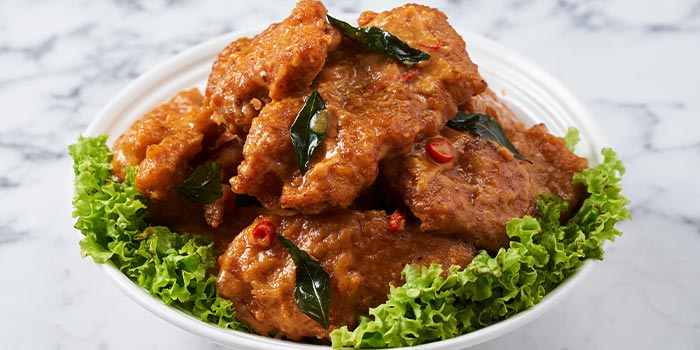 Salted Egg Pork Ribs from The Garden Kitchen in Tanjong Pagar, Singapore