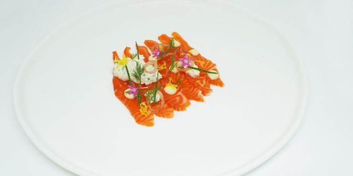 Ocean Trout Cured in Maple Syrup from Anti:dote at Fairmont Singapore in City Hall, Singapore