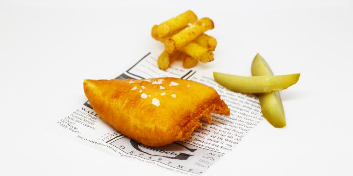 Captain Kirks Fish and Chips from Anti:dote at Fairmont Singapore in City Hall, Singapore