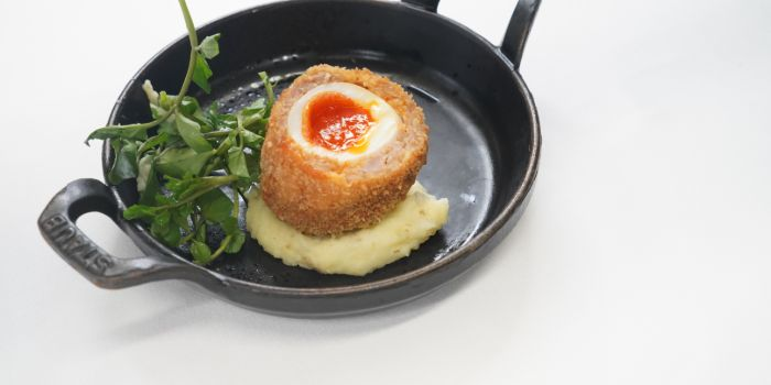 The Scotch Egg from Anti:dote at Fairmont Singapore in City Hall, Singapore
