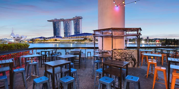 Exterior from Kinki Restaurant in Collyer Quay, Singapore