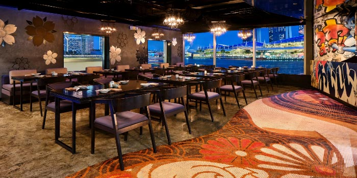 Interior from Kinki Restaurant in Collyer Quay, Singapore