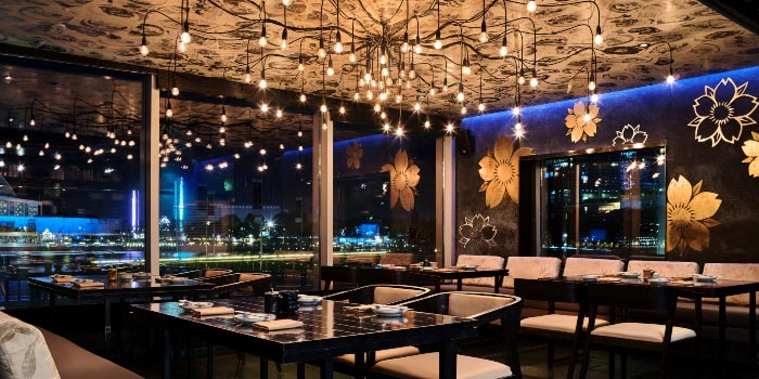 VIP interior from Kinki Restaurant in Collyer Quay, Singapore