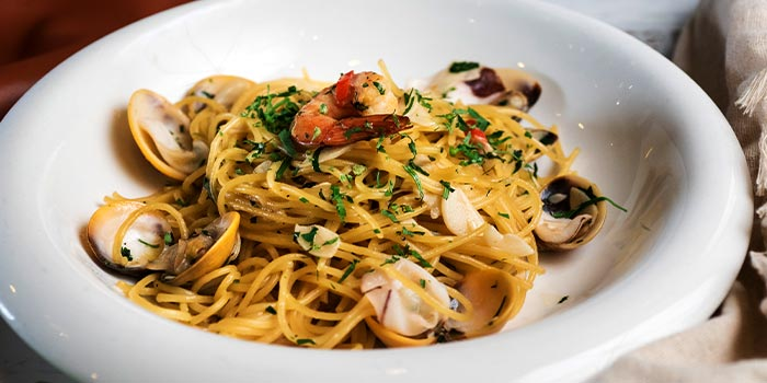 Spaghetti Oglio Olio Frutti Di Mare  from Pietro Ristorante Italiano at Seletar Hills in Seletar, Singapore