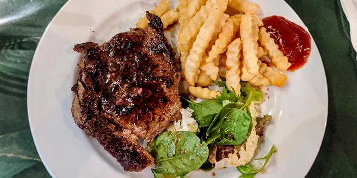 Ribeye Steak with Black Pepper Sauce from Brauhaus Restaurant & Pub in Novena, Singapore
