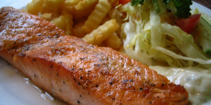 Salmon from Brauhaus Restaurant & Pub in Novena, Singapore