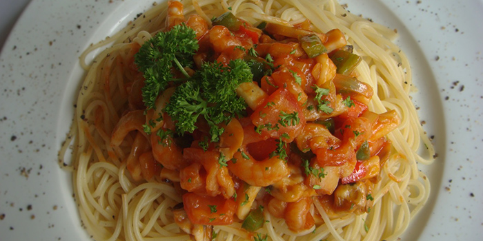Napolitan Spaghetti from Brauhaus Restaurant & Pub in Novena, Singapore
