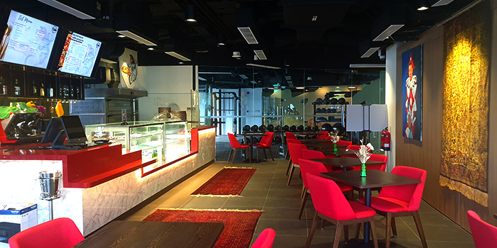 Interior of Burlamacco Cafe & Pizzeria in River Valley, Singapore