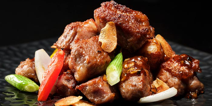 Stir-fried Diced Beef with Garlic from Si Chuan Dou Hua (UOB Plaza) in Raffles Place, Singapore
