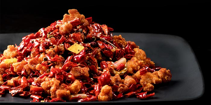 Chong Qing Diced Chicken with Dried Chilli from Si Chuan Dou Hua (UOB Plaza) in Raffles Place, Singapore