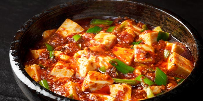 Bean Curd in Spicy Minced Meat from Si Chuan Dou Hua (UOB Plaza) in Raffles Place, Singapore Sauce from