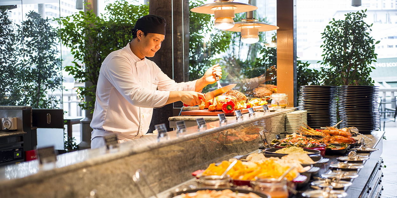 Kitchen of River Café & Terrace at The Peninsula Bangkok
