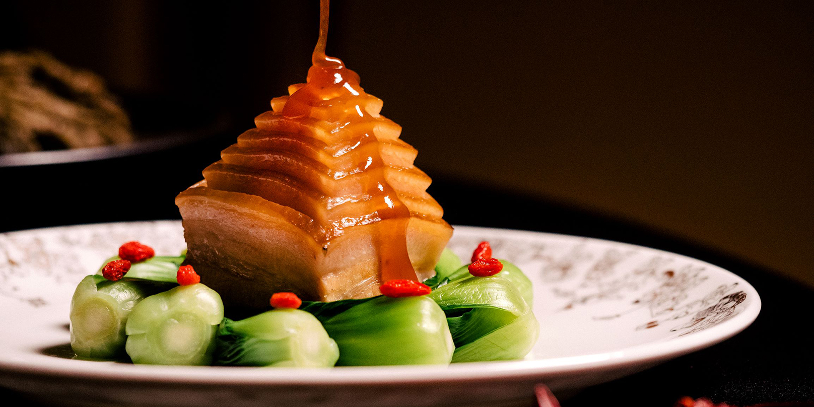 Braised Pork Belly Pyramid Preserved Vegetables, Dry Bamboo Shoots