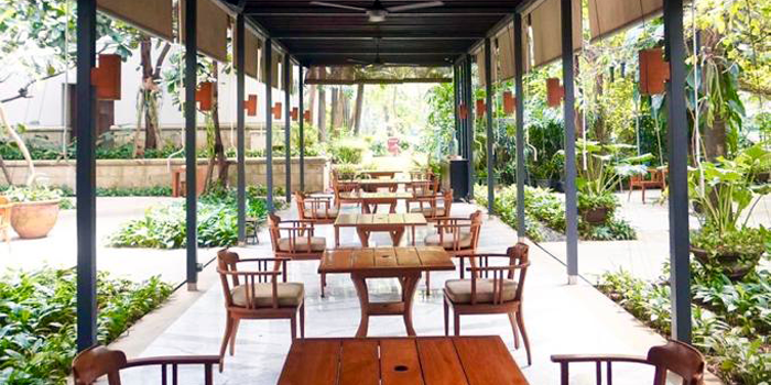 Courtyard at Jakarta Restaurant, The Dharmawangsa