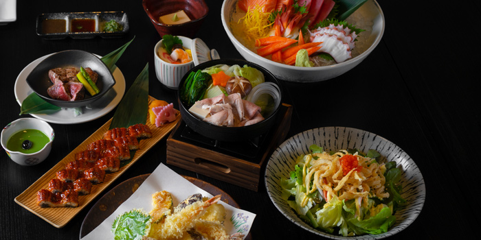 Selection of Food from Tsu Japanese Restaurant at JW Marriott Hotel Bangkok (LL Floor) 4 Sukhumvit Soi 2, Sukhumvit Rd Bangkok