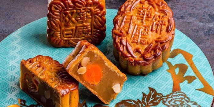 Baked Mooncakes from Hua Ting at Orchard Hotel Singapore in Orchard, Singapore