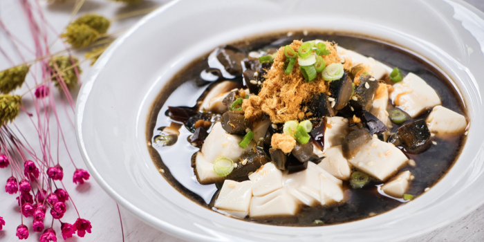 Chilled Tofu with Century Egg from Element Restaurant at Amara Hotel in Tanjong Pagar, Singapore