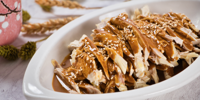 Shredded Chicken With Sesame In Spicy Sauce from Element Restaurant at Amara Hotel in Tanjong Pagar, Singapore